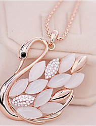 New Arrival Fashion Jewelry Rhinestone Popular Opal Swan Necklace
