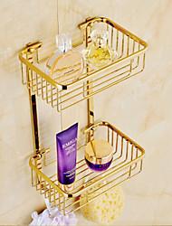 Cesto para Box de Banheiro / Gadget de Banheiro Ti-PVD De Parede 23cm*16cm*38cm(9*6.3*14.96inch) Latão Contemporâneo