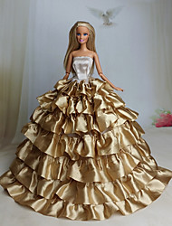 Party/Evening Dresses For Barbie Doll Coffee Dresses For Girl's Doll Toy
