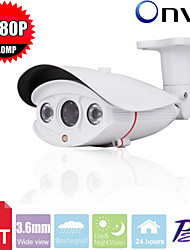 CCTV SONY CMOS  HD 1080P Waterproof  2MP Megapixel 2pcs Array Leds Ir-cut 3.6mm Wide View IP Camera Surveillance Camera