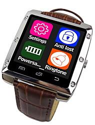 A8-1 ce cas est un métal bracelet en cuir montres intelligentes, soutenir le système d'Apple et Android, Bluetooth 4.0 soutien montres
