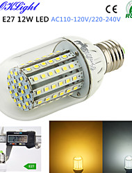 YouOKLight® 1PCS E27 12W 1000lm 90-2835SMD 3000K/6000K High brightness &long life 45,000H LED Light AC110-120V/220-240V