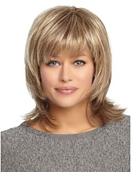 Fashion Lady Blonde Color Long Synthetic Wigs