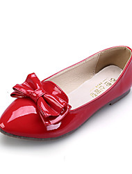 Girls' Shoes Dress / Casual Comfort / Pointed Toe / Closed Toe Flats Black / Pink / Red / Almond