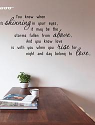 AWOO® New Shinning  Pattern Wall Sticker Group On Behalf Of English customization