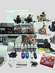 8 Guns BaseKey Tattoo Kit K803 Machine With Power Supply Grips Cups Needles(Ink not included)