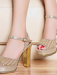 Zapatos de mujer - Tacón Robusto - Punta Abierta - Sandalias - Oficina y Trabajo / Vestido / Casual / Fiesta y Noche -Sintético /