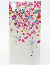 padrão balão cor TPU soft case para Sony Xperia z5