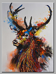 Oil Painting Modern Abstract  Pure Hand Draw Ready To Hang Decorative The Deer  Oil Painting