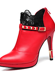Women's Heels Fall Heels Leatherette Wedding / Party & Evening / Dress Stiletto Heel Others Black / Red Others