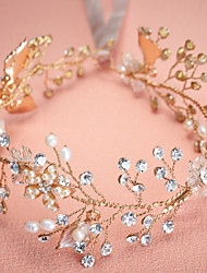Women's Pearl / Rhinestone / Alloy Flower Headpiece - Wedding / Special Occasion Headbands 1 Piece Sale