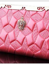 Women PU Professioanl Use Wallet Pink / Blue / Red / Black