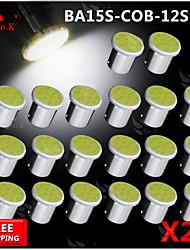 20x torchis blanc LED Super Bright BA15s cms 1156 voiture de l'arrière ampoule de signal tour de lumière 12v