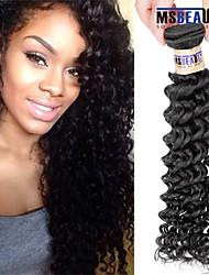 """1 pc / lot 12 """"-30"""" 6a malaysisches reines Haar tiefe Welle Menschenhaareinschlagfäden 100% unverarbeitetes malaysischer remy Haar spinnt"""