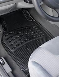 TIROL Universal Heavy Duty for All Weather Rubber Car Floor Mats Black 4 PC Set Car Floor Mats Front & Rear
