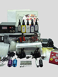 4 Guns BaseKey Tattoo Kit K404 Machine With Power Supply Grips Cups Needles(Ink not included)