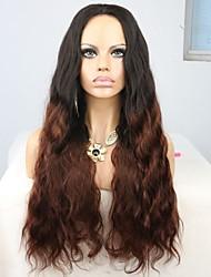 joywigs beliebte Frisur brazilian 1b / 30 ombre Körperwellen-Menschenhaar volle / vordere Spitzeperücke für schwarze Frauen