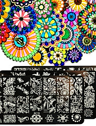 1шт ногтей шаблон искусство типография лес серия сад