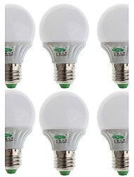 Zweihnder® 6Pcs E27 3W 280LM 5500-6000K 10x2835 SMD White Light Bulb Lamp (100-240V)