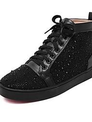 Women's Shoes Flat Heel Comfort Boots Outdoor Black / White