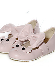 Women's Shoes Low Heel Round Toe / Closed Toe Flats Office & Career / Dress / Casual Pink / White