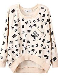 Ronde hals - Katoen - Bloem - Vrouwen - T-shirt - Lange mouw
