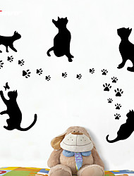 AWOO® New Footprint Pattern Wall Decoration Fashion Wall Stickers Home Decor 3D Wallpaper for Living Room
