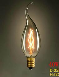 C35L tirare la fine del giallo e14 220v-240v 40w edison piccola lampadina vite
