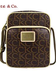 Kate & Co.® Femme PVC Sac à Bandoulière Gris - TH-02230