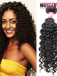 """1 pc / lot 12 """"-30"""" 7a malaysisches reines Haar tiefe Welle Menschenhaareinschlagfäden 100% unverarbeitetes malaysischer remy Haar spinnt"""
