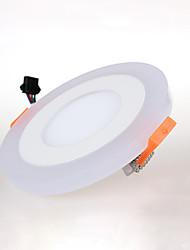 ZDM ™ 1 pcs 9 (6 + 3) w 2835 + 3528SMD led noyé panneau lumineux ras rond blanc + bleu AC85V-265v couleur changeante
