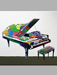 одного современного абстрактного чистого ничья рука готовы повесить декоративную картину маслом фортепиано