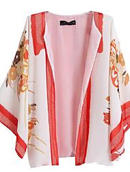 Women's Floral White Shirt , Halter Long Sleeve