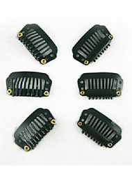 100pcs 28mm 8-dientes clips del pelo / peluca accesorios para la extensión del pelo 5colors en stock