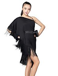 Latintanz-Kleider(Schwarz,Satin Milchfieber,Latintanz) - fürDamen Kleid Kurze Hosen