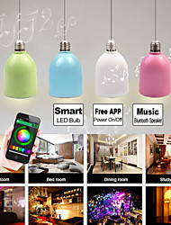 Besteye®BLF5 3W E27 100-240V Smart LED Bulb Multi-color LED Light with Bluetooth Speaker Free Smartphone APP