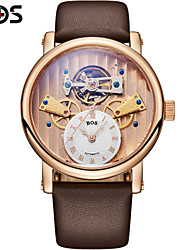 BOS Luxury Hollow Mens Watch Automatic Mechanical Watch Watch Personality Wrist Watch Cool Watch Unique Watch