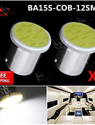 2x torchis blanc LED Super Bright BA15s cms 1156 voiture de l'arrière ampoule de signal tour de lumière 12v
