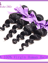 "Unprocessed Virgin Indian Hair Loose Wave Mixed 8""~30"" Natural Color Indian Human Hair Weave"