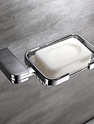 Contemporary Brass Chrome Finish Wall Mounted Soap Dish Holder Soap Basket