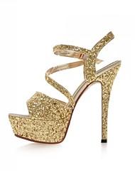 Черный / Белый / Серебристый / Золотистый - Женская обувь - Свадьба / Для праздника / Для вечеринки / ужина - Материал на заказ клиента -