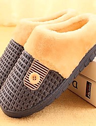 Men's Libo New Fashion Hot Sale Comfort Casual Cotton Slippers Dark Blue / Brown For Lovers