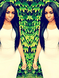 Long Full Lace Human Hair Wigs Yaki Straight Party Wig for Black Women Lace Front Wig 100% Virgin Human Hair 8''-26''