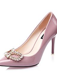 Women's Shoes Stiletto Heel Heels / Pointed Toe / Closed Toe Heels Dress / Casual Black / Purple / Red / Silver