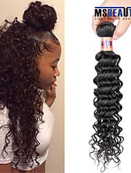 """1 pc / lot 12 """"-28"""" 8a malaysisches reines Haar tiefe Welle Menschenhaareinschlagfäden 100% unverarbeitetes malaysischer remy Haar spinnt"""