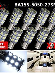 10x super luminoso ba15s blancos dirección trasero 1156 coche señal luminosa 27 LED 12V SMD
