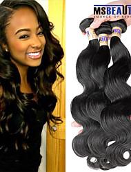 """3 unidades / lote 8 """"-30"""" cabelo humano virgem 6a brasileiros extensões de cabelo de onda corpo 100% virgem não transformados tece"""