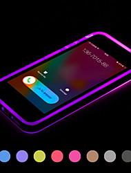 Pour Coque iPhone 5 Lampe LED Allumage Auto Transparente Coque Coque Arrière Coque Couleur Pleine Flexible PUT pour iPhone SE/5s/5