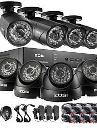 ZOSI®HD 8CH CCTV System HDMI 960H DVR with 1TB HDD 8PCS 1000TVL IR Outdoor Video Surveillance Security Camera System Kit