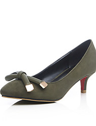 Women's Shoes Stiletto Heel Heels/Pointed Toe Nude Shoes Office & Career/Party & Evening/Casual Black/Pink/Dark Green